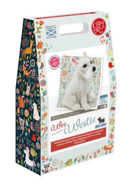 The Crafty Kit Company Dinky Dogs 'Wee Westie' Needle Felting Kit - 190 x 290 x 94mm