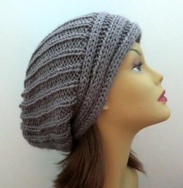 The Yvette Slouch Hat with Perpendicular Lines