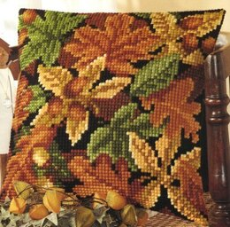 Vervaco Autumn Leaves 3 Cushion Front Chunky Cross Stitch Kit - 40cm x 40cm