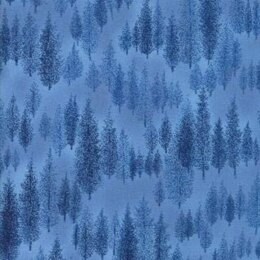 Moda Fabrics Forest Frost Glitter II Winter Metallic Holly Leaves Sky Light Blue