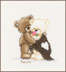 Vervaco Counted Cross Stitch Kit Popcorn Hugging
