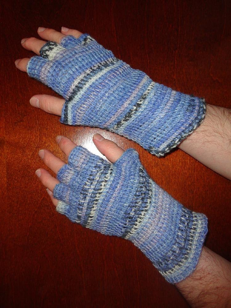 Tunisian Fingered Mittens Crochet Pattern By Patrick Zein Knitting