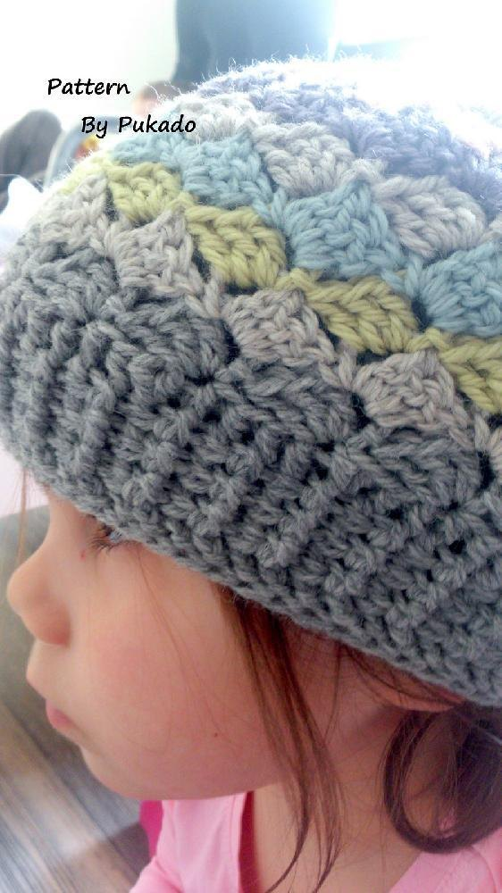 Crochet Hat Pattern Shell Stitch : Crochet Pattern - Triple S - Slanted Shell Stitch Crochet ...