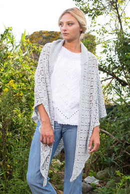 Grenache Shawl in Berroco Summer Silk - 384-4 - Downloadable PDF