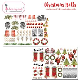 Dress My Craft Image Sheet 240gsm A4 2/Pkg - Christmas Bells