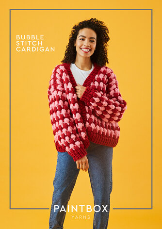 Bubble Stitch Cardigan - Free Knitting Pattern For Women in Paintbox Yarns Simply Super Chunky