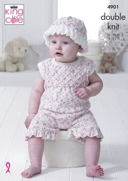 Baby Set in King Cole DK - 4901 - Downloadable PDF