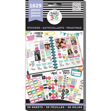 Me & My Big Ideas Happy Planner Sticker Value Pack - Planner Basics - Classic, 1829/Pkg