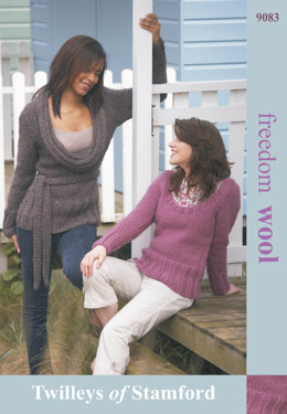 Sweater With Cowl or Scoop Neck in Twilleys Freedom Wool - 9083