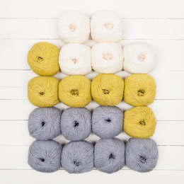 Moderne Blanket by Buzybee - Katia Merino 100% 18 Ball Color Pack