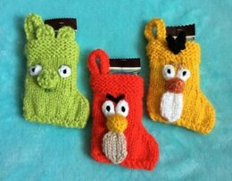 Angry Bird Faces Stockings