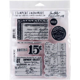 "Stampers Anonymous Tim Holtz Cling Stamps 7""X8.5"" - Etcetera"