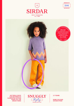 Children's Sweater in Sirdar Snuggly Replay DK - 2545 - Leaflet