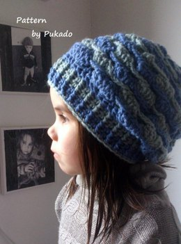 Crochet Pattern - Waves - Hat and fingerless mittens - easily converted to fit all sizes