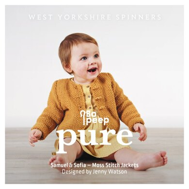 Samuel and Sofia Moss Stitch Jackets in West Yorkshire Spinners Bo Peep Pure DK- DBP0003 - Downloadable PDF