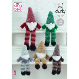 Tinsel Gnomes in King Cole Tinsel Chunky - 9113 - Leaflet