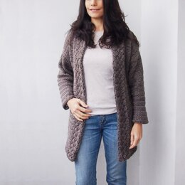 Celtic cable cardigan