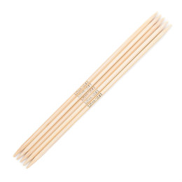 Addi Bamboo Double Pointed Needles 15cm (Set of 5)