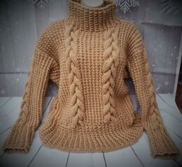 Sandy cable sweater