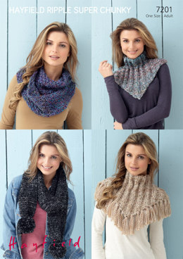 Snoods and Scarf in Hayfield Ripple Super Chunky - 7201