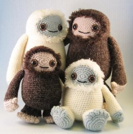 Yeti and Bigfoot Amigurumi Pattern