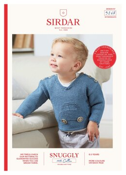 Car Sweater in Sirdar Snuggly 100% Cotton - 5268 - Downloadable PDF