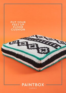 Put Your Feet Up Floor Cushion in Paintbox Yarns Recycled Ribbon - Downloadable PDF
