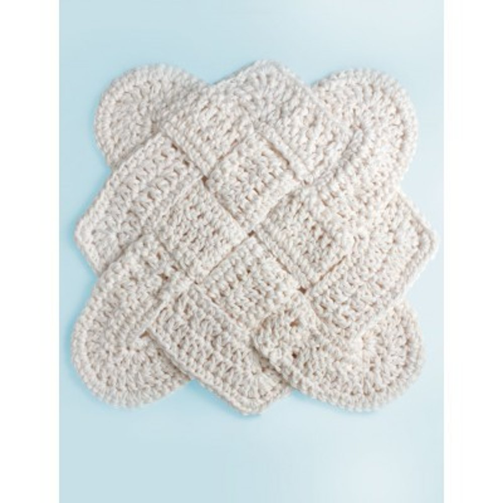 Sailors Knot Dishcloth In Lily Sugar And Cream Solids Crochet