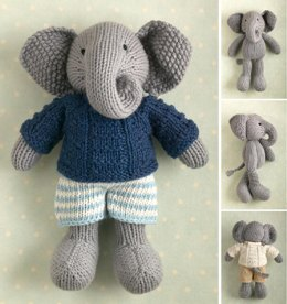 Boy Elephant in a textured sweater