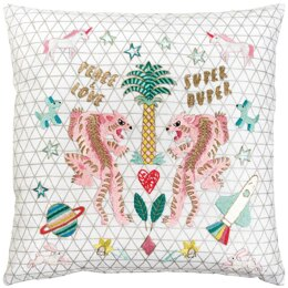 Rico Embroidery Kit - Tiger Cushion