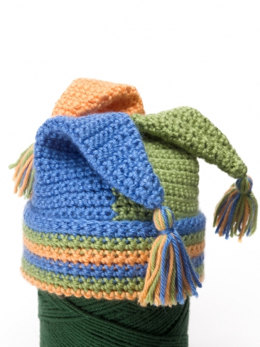 Crochet Tripod Hats in Caron Simply Soft and Simply Soft Brites - Downloadable PDF