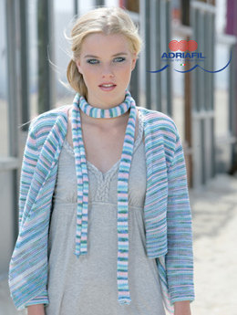Madeleine Bolero and Scarf in Adriafil Poema - Downloadable PDF