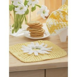 Daisy Fancy Dishcloth in Lily Sugar 'n Cream Solids