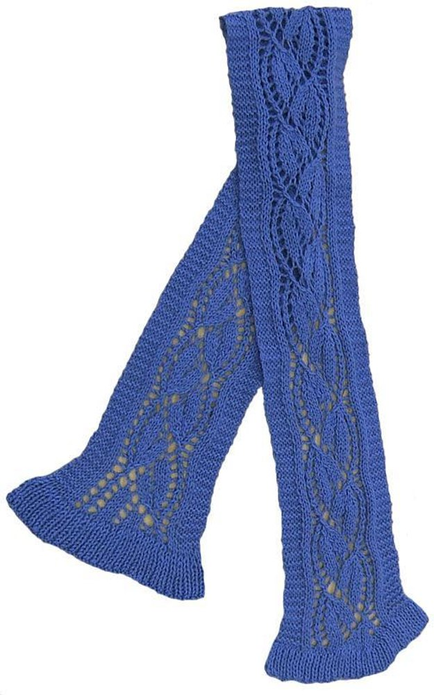 Bluebell Lace Scarf Knitting Pattern By Sharon Mooney Knitting