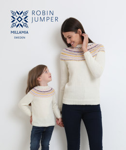 Robin Jumper in MillaMia Naturally Soft Merino - Downloadable PDF