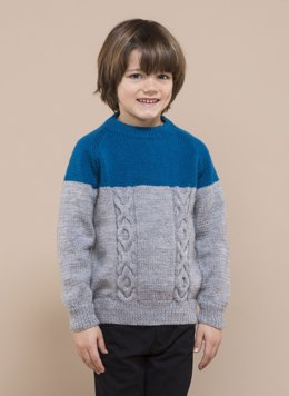 Barisienne Boys Cables Sweater in Bergere de France - 60398-01 Barisienne - Downloadable PDF