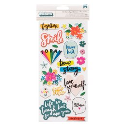 American Crafts Amy Tangerine - Brave + Bold Thickers Stickers Phrases