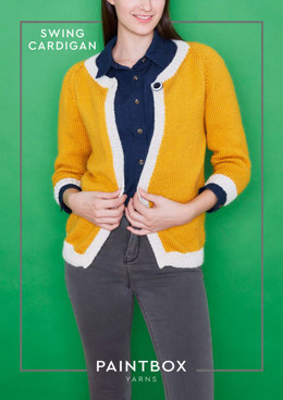 """Swing Cardigan"" - Free Cardigan Knitting Pattern For Women in Paintbox Yarns Simply Aran"