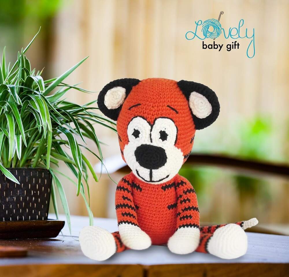 Ravelry: Tiger Amigurumi pattern by Knotty Hooker Designs | 960x1000