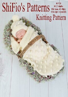 Bobble Cocoon Baby Knitting Pattern #128