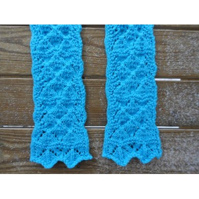 Fantasy Leaves Lace Scarf Knitting Pattern By Melody Hadley