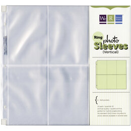 "We R Memory Keepers We R Ring Photo Sleeves 12""X12"" 10/Pkg - (6) 6""X4"" Pockets"