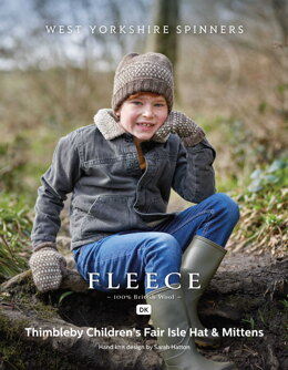 Thimbleby Children's Fair Isle Hat & Mittens in West Yorkshire Spinners Bluefaced Leicester DK - DBP0171 - Downloadable PDF