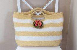 Knit and Felted Purse - Summer Sun Tote