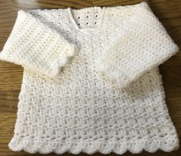 Victoria Sweater Crochet Pattern for Baby or Child. (1026)