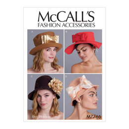 McCall's Misses' Hats M7766 - Paper Pattern All Sizes In One Envelope