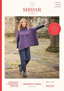 Cable Cape in Sirdar Haworth Tweed - 10148 - Downloadable PDF