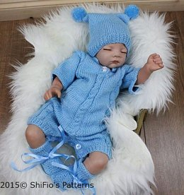 Cable Onesie Knitting Pattern #312