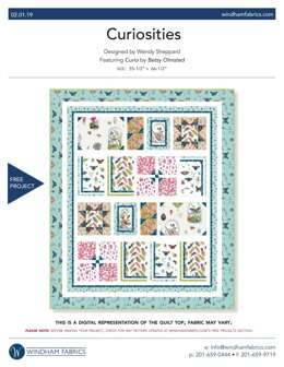 Windham Fabrics Curiosities - Downloadable PDF