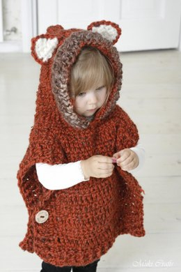 Hooded Poncho Fox Max